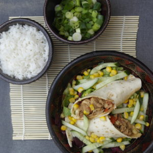 Wrap, kip, oosters, hoisin saus